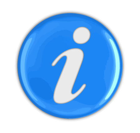 A Button with Info Image with clipping path. Vettoriali
