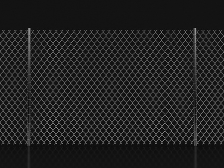 Chainlink fence. Image with clipping path Stok Fotoğraf