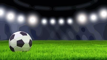 Soccerball on grass