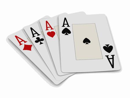 Four aces illustration.