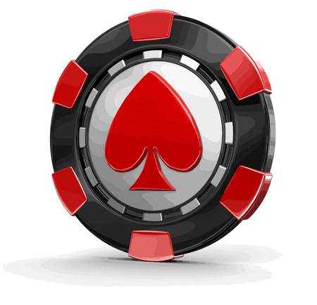 Chip of casino. Image with clipping path