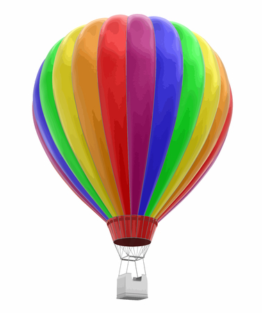Hot air balloon image with clipping path. Çizim
