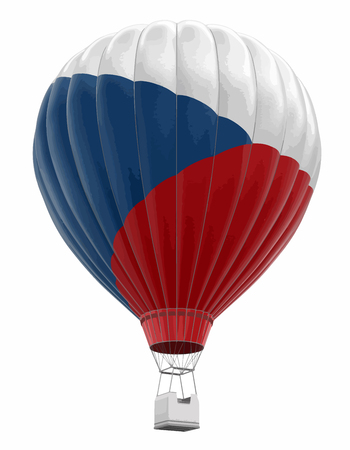 Hot Air Balloon with Czech Flag.