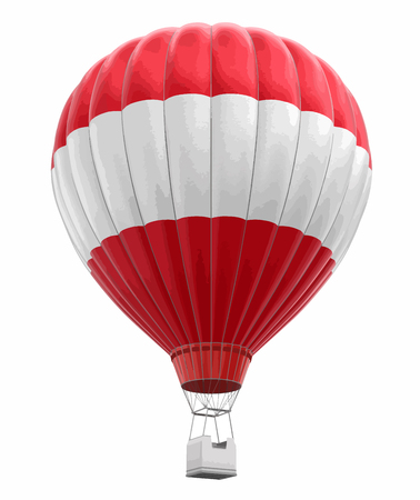 Hot Air Balloon with Austrian Flag Image with clipping path