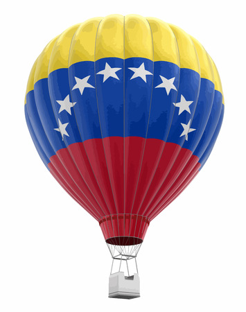 Hot Air Balloon with Venezuelan Flag. Image with clipping path Vector illustration. Illustration