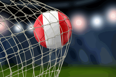 Peruvian soccerball in net