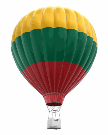 Hot air balloon with Lithuanian flag.