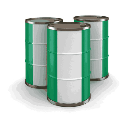 Oil barrel with flag of Nigeria