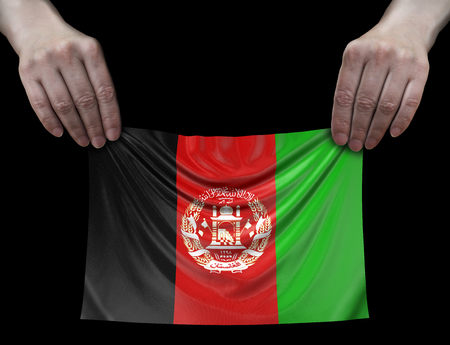 Afghani flag in hands