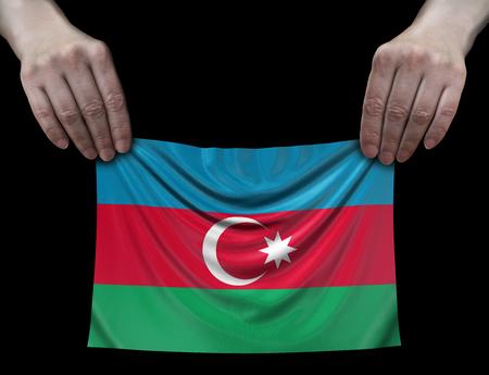Azerbaijan flag in hands
