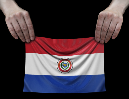Paraguayan flag in hands