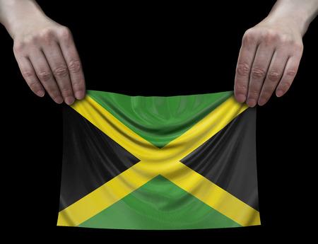 Jamaican flag in hands