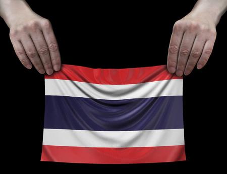 Thai flag in hands