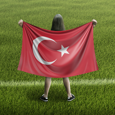 Women and Turkish flag