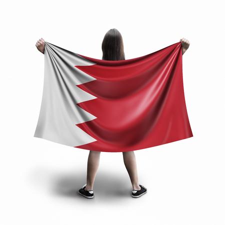 Women and Bahrain flag Archivio Fotografico