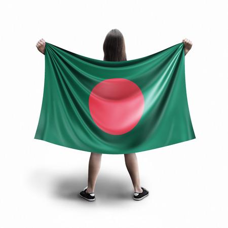 Women and Bangladesh flag