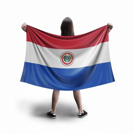Women and Paraguayan flag