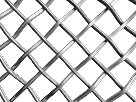 Wire fence. Image with clipping path Çizim