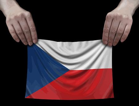Czech flag in hands