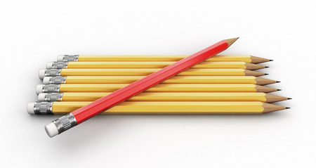 Pencils. Image with clipping path.