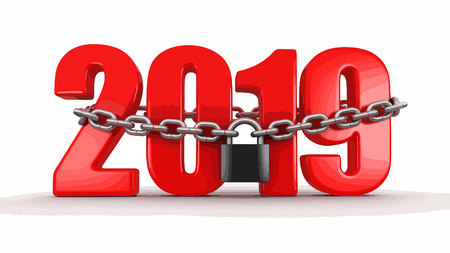 2019 and lock (clipping path included)