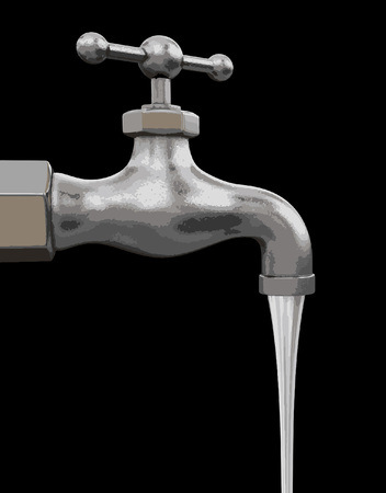 Water tap.