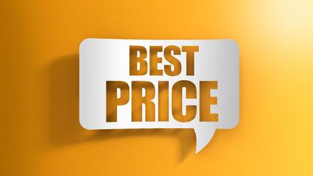 Speech bubble with best price 写真素材 - 119783548