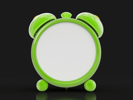 Green Alarm Clock. Image with clipping path