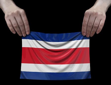 Costa rica flag in hands