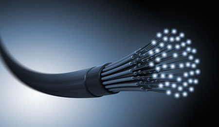 3d image of Optic fiber cable