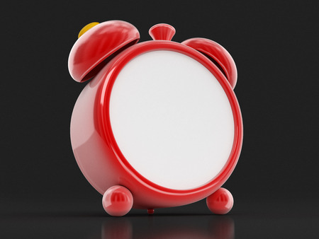 Red Alarm Clock. Image with clipping path 스톡 콘텐츠