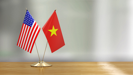 American and Vietnamese flag