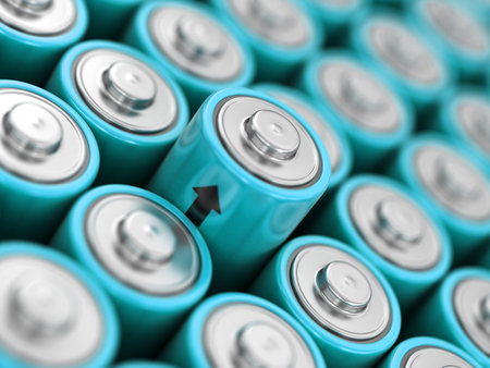 Image of Batteries background Standard-Bild - 120670727