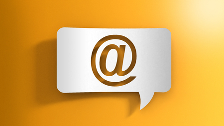 Speech bubble with E-mail sign 写真素材 - 120670738