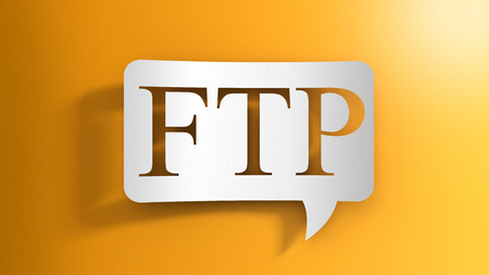 Speech bubble with FTP