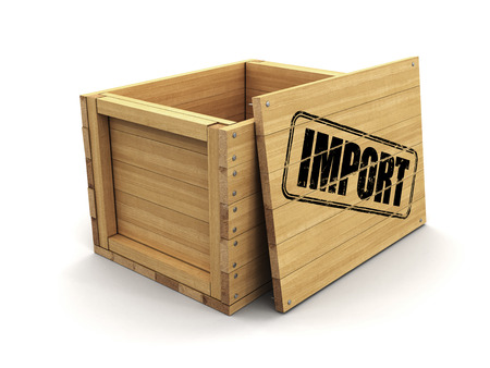 Wooden crate with Important. Image with clipping path