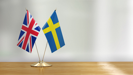 British and Swedish flags Reklamní fotografie