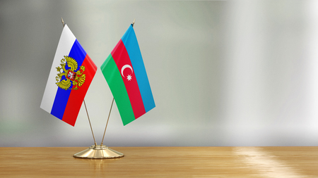 Azerbaijan and Russia flags