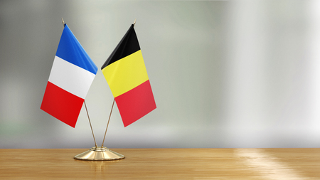 French and Belgian flag pair