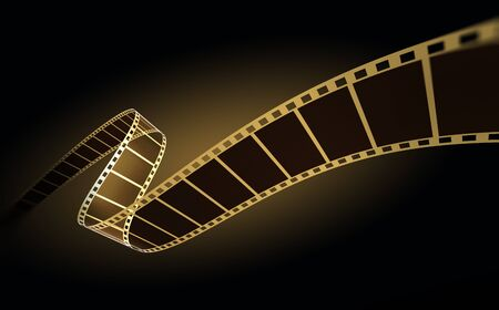 3d film strip on black