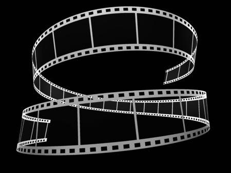 3d film strip on black Archivio Fotografico - 131516815