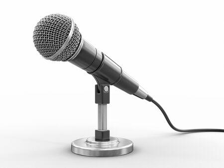 Imagen de micrófono con trazado de recorte