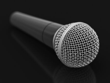 Microphone Image with clipping path
