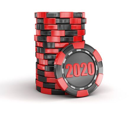 chip of casino 2020. Stock Photo