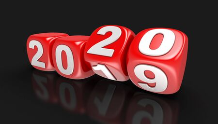 Dices with 2020. Stockfoto