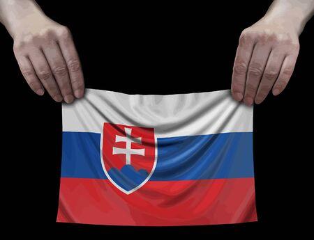 Slovak flag in hands