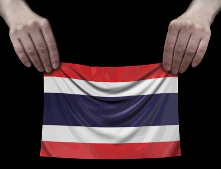 Thai Flag in hands