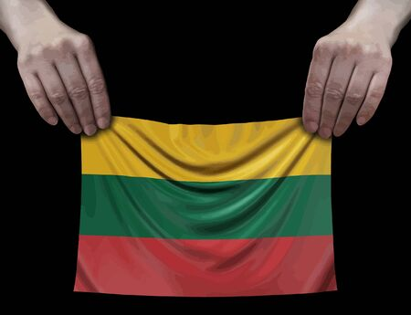 Lithuanian Flag in hands