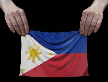 Philippine flag in hands
