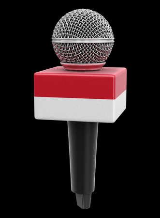 Microphone and Monaco flag.